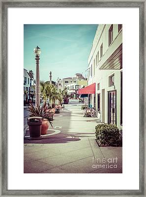 Newport Beach Main Street Balboa Peninsula Picture Framed Print by Paul Velgos