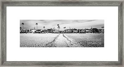 Newport Beach Panorama At 11th Street And Balboa Framed Print by Paul Velgos