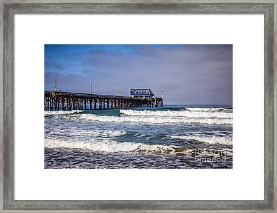 Newport Beach Pier In Orange County California Framed Print by Paul Velgos