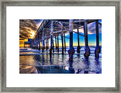 Newport Beach Pier - Low Tide Framed Print