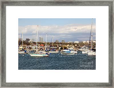Newport Beach Skyline In Orange County California Framed Print by Paul Velgos
