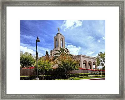 Newport Beach Temple Framed Print