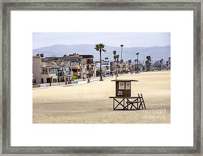 Newport Beach Waterfront Luxury Homes Framed Print by Paul Velgos