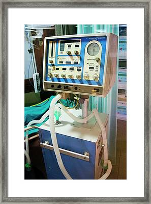 Newport Breeze Respiratory Ventilator Framed Print by Mark Williamson