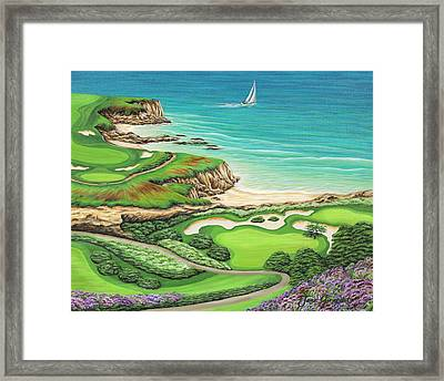 Framed Print featuring the painting Newport Coast by Jane Girardot