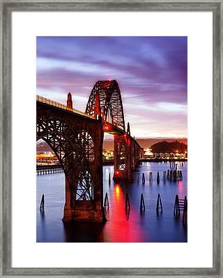 Newport Dawn Framed Print