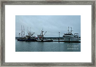Newport Fishing Boats Framed Print by Chalet Roome-Rigdon