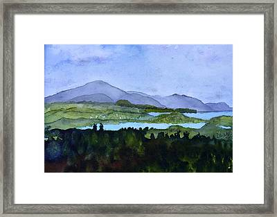 Framed Print featuring the painting Newport From Brownington Lookout by Donna Walsh