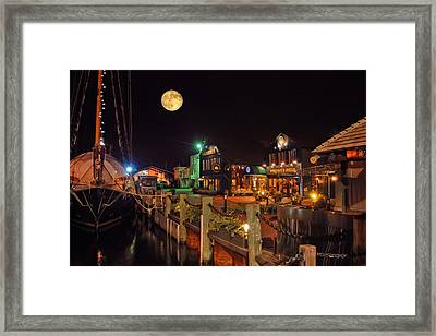 Newport Lights Framed Print