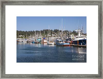 Framed Print featuring the photograph Newport Marina by Bryan Mullennix
