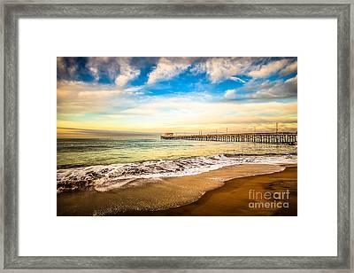 Newport Pier Photo In Newport Beach California Framed Print by Paul Velgos