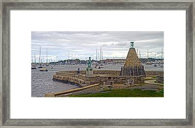 Newport Rhode Island Harbor Ivi Framed Print