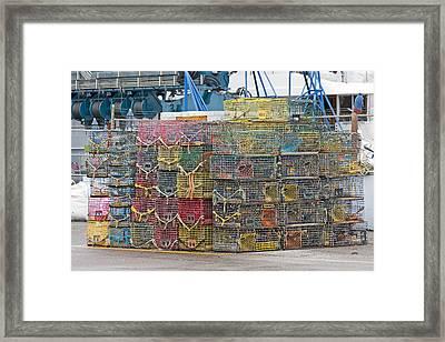 Newport Rhode Island Traps Framed Print