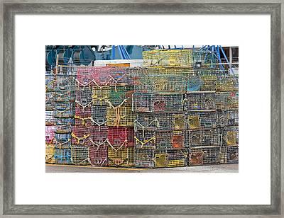 Newport Rhode Island Traps II Framed Print by Betsy Knapp