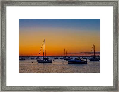 Newport Ri Sunset Framed Print by Sean Mackie