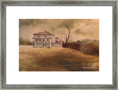 Framed Print featuring the painting Newport Vermont by Joy Nichols