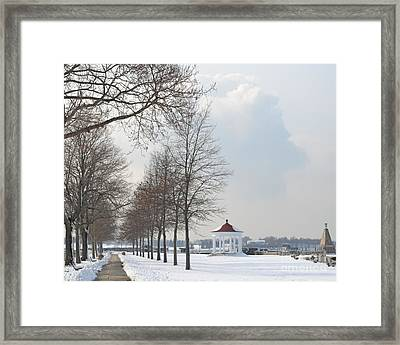 Framed Print featuring the photograph Newport Waterfront by Angela DeFrias