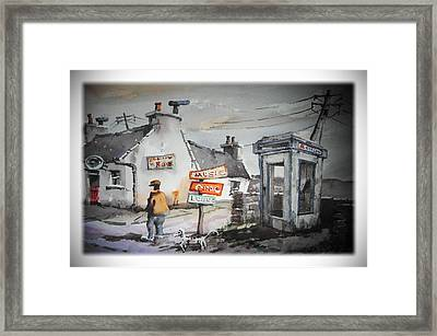 Newquay Essentials Clare Framed Print by Val Byrne