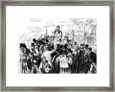 News Of The Murder Of President Lincoln Framed Print
