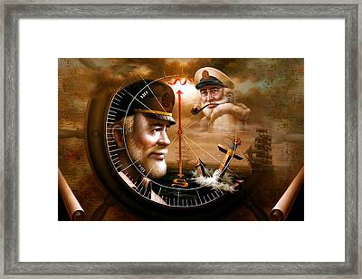 Imperishable Two Map Captain 3 Framed Print