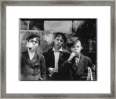 Newsies At Skeeter Branch Framed Print