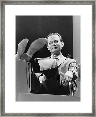Newsman David Brinkley Framed Print by Underwood Archives