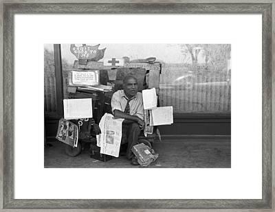Newspaper Peddler, 1938 Framed Print by Granger