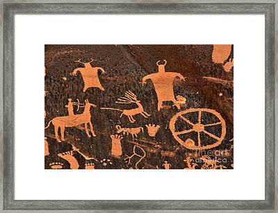 Newspaper Rock Close-up Framed Print