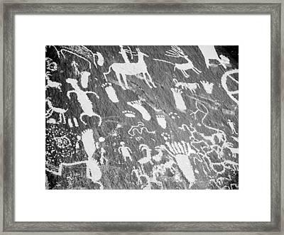 Newspaper Rock Framed Print