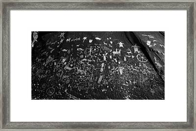 Newspaper Rock Utah Framed Print