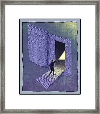 Newspaper Framed Print by Steve Dininno