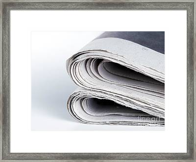 Newspapers Framed Print by Sinisa Botas