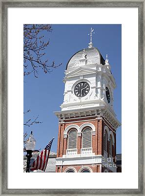 Newton County Courthouse Framed Print by Cathy Lindsey