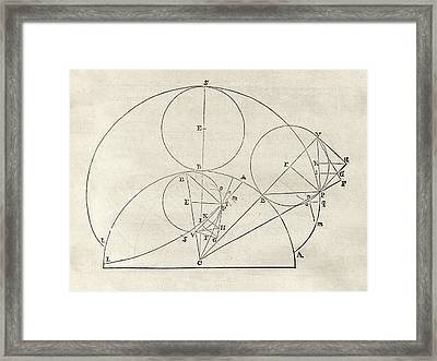 Newton On Geometric Curves Framed Print by Middle Temple Library