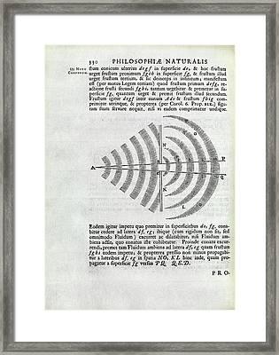 Newton On Wave Theory Framed Print