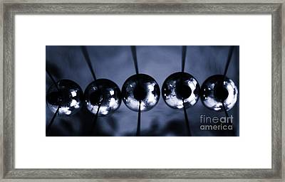 Newtons Cradle Framed Print by Stelios Kleanthous