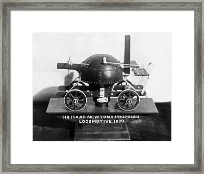 Newton's Teakettle Locomotive Framed Print by Underwood Archives