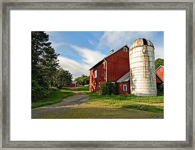 Newtown Barn Framed Print by Bill Wakeley