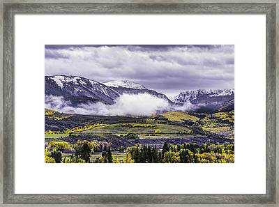 Newyorkmountaincolorado Framed Print by Darryl Gallegos
