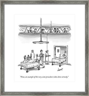Next, An Example Of The Very Same Procedure When Framed Print by Tom Cheney