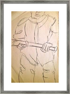 Next Batter Framed Print by Joe Davis