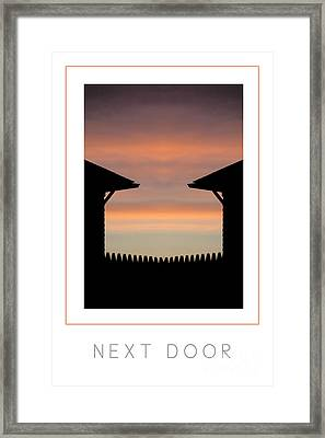 Next Door Poster Framed Print by Mike Nellums