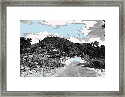 Next Gas 122 Miles Ghost Town Mogollon New Mexico 1969-2009 Framed Print by David Lee Guss