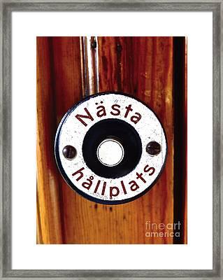 Next Stop Framed Print by Leif Sodergren