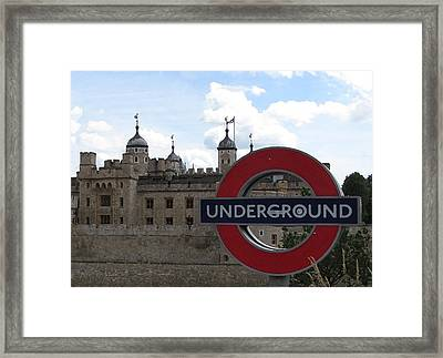 Next Stop Tower Of London Framed Print by Jenny Armitage