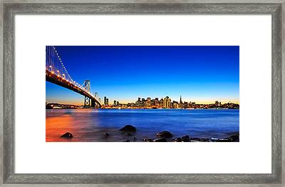 Next To The Bay Bridge And San Francisco Skyline Framed Print