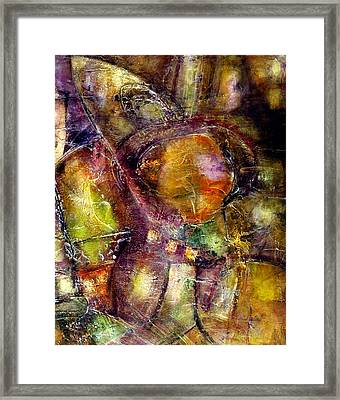Framed Print featuring the painting Nexus by Katie Black