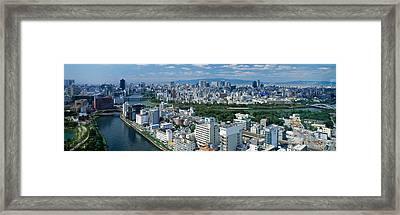 Neya River Osaka Japan Framed Print