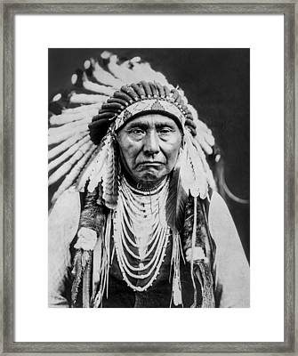 Nez Perce Indian Man Circa 1903 Framed Print by Aged Pixel