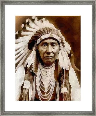 Nez Perce Native American Chief Framed Print